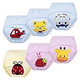Ouinne 6 Stücke Wasserdicht Baby Lernwindel, Lernwindel Wasserdicht Trainerhosen Unterwäsche Windeln Windelhose zum Toilettentraining