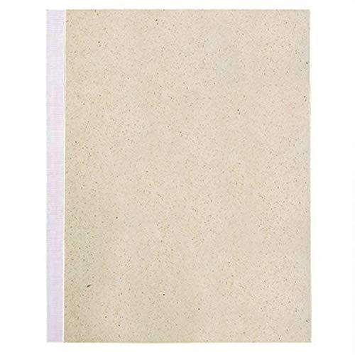 Matabooks, nachhaltige und vegane Notizblock A5 aus Graspapier, 144 blanko Seiten, Natur, Handmade, Made in Germany (Weiß)