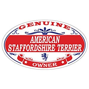 US Decal, Inc. American Staffordshire Terrier Oval Sticker 1