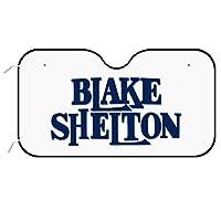 サンシェード 車用 ブレイク・シェルトン Blake Shelton フロントサンシェード 紫外線遮断 断熱 抗菌 普段使い 遮光 収納便利 熱中症対策 車中泊 盗犯防止