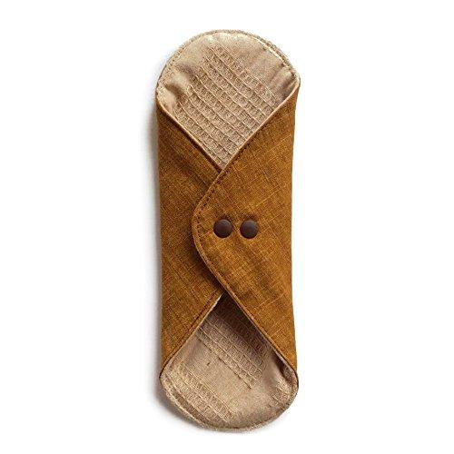 華布のオーガニックコットンのあたため布 Lサイズ (約18×約20.5×約0.5cm) 彩り(栗)