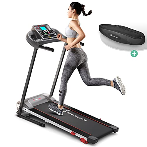 Sportstech F10 treadmill model 2020 - German Quality Brand +Video Events & Multiplayer App - NEW console -   1HP to 10 km/h   running machine with 13 programs + foldable