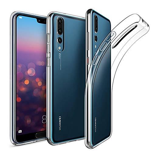 Amonke Coque Huawei P20 Pro, Ultra Clair TPU Silicone Transparent Souple Housse Etui Coque pour Huawei P20 Pro, [Ultra Fine/Ultra Léger][Anti Choc/Anti-Scratch]