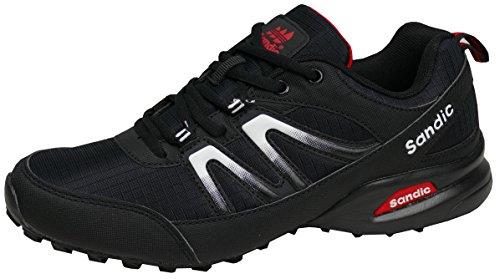 gibra Herren Sneaker Sportschuhe, Art. 9637, sehr leicht und bequem, schwarz, Gr. 45