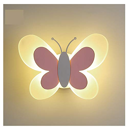 Schmetterlings-Art-Kinderwandleuchte, Bunte Led Moderne Minimalist Schlafzimmer Wohnzimmer Acryl Dekorative Wandleuchte