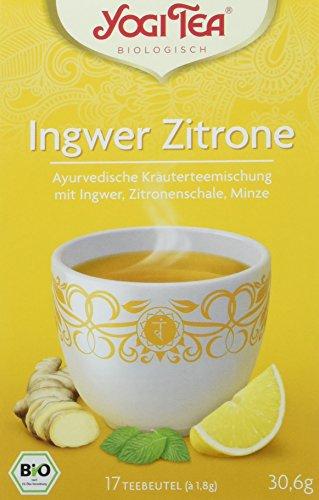 Yogi Tea Ingwer Zitrone Tee Bio, 3er Pack (3 x 30,6 g)