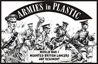 WWI British Lancers Any Regiment (5 Mounted) 1-32 Armies in Plastic