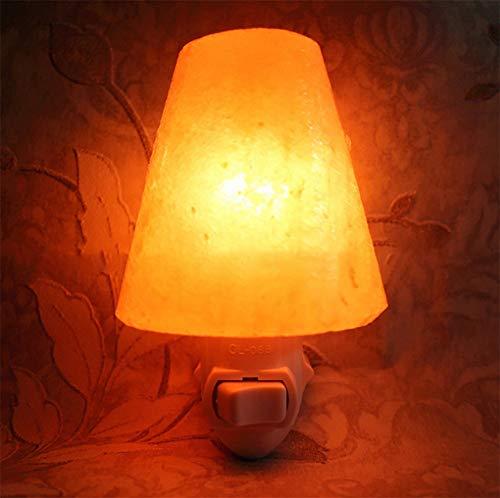 XZYP Glow Natural Rosa Lampada di Sale, Naturale Himalayano Lampada di Sale, Luce Zanflare Sale Night in Foresta Design Metal Basket con Dimmer Switch, Regalo di Festa,C