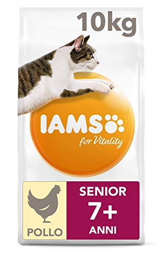 IAMS for Vitality Cibo Secco con Pollo Fresco per Gatti Anziani, 10 kg