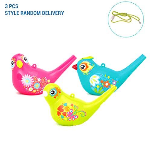 SayHia 3 Stück Vogel Pfeife, Bunte Vogel Wasserpfeife für Badespielzeug, Bad Vogel Pfeife für Kinder, Geburtstagsgeschenk, Ostergeschenk