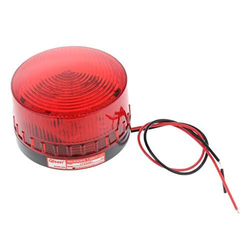 Luz De Advertencia De Luz Estroboscópica Giratoria LED De 24 V Señal De Señalización De Flash De Baliza Roja - 12