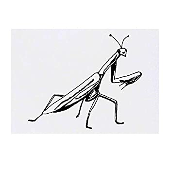 Azeeda Large  Praying Mantis  Temporary Tattoo  TO00032723