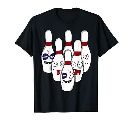 Zerstörte Kegel Bowling Kegelbahn Kegler Kegel Verein Shirt