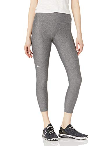 Under Armour Leggings Heatgear Armour Hirise Ankle para Mujer, Mujer, Leggings, 1365335-019, Charcoal Light Heather White 019, Medium