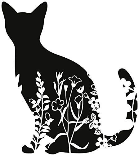 Aufkleber Katzen Sticker Tiere Tierschutz Love Cats ca. 12x10 cm