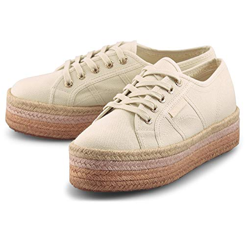 Superga 2790-Cotcoloropew Sneaker Damen beige, 39 EU - 5.5 UK - 8 US