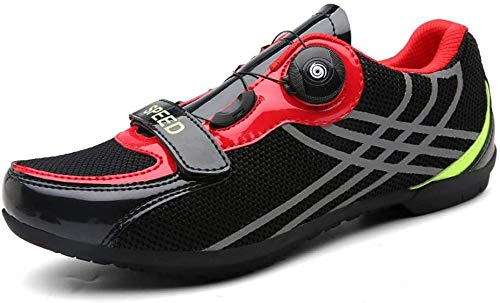 YURU Rennradschuhe MTB Fahrradschuhe , Herren Leichtgewichtige Atmungsaktive Fahrradschuhe Für Mountainbiker,Black-EU46