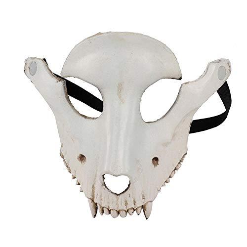 XWYWP Mscara de Halloween de cara completa con forma de calavera para Halloween, cosplay, fiesta de mscaras, oveja, crneo, mscara facial, disfraz de decoracin de fiesta, color blanco
