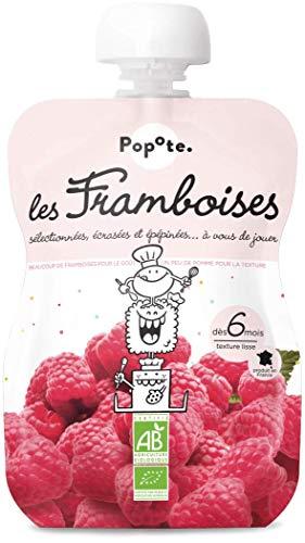 POPOTE.PRESENTE - BIO - Les Framboises Gourde de fruits pour Bébé - Dès 6 Mois - Texture Lisse - 120 g GGFR08