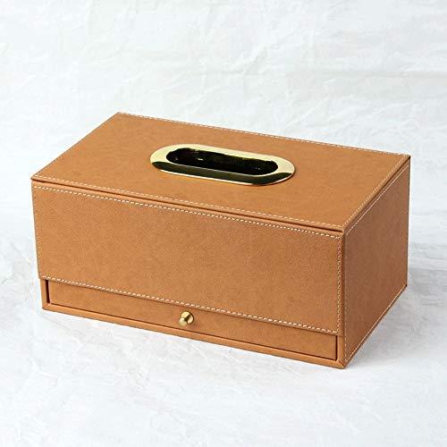 XiuHUa Tissue opbergdoos, eenvoudig en royaal met lade papieren handdoek opbergdoos, geschikt voor: thuis, kantoor, hotel, auto, yoga studio, Desktop tissue box