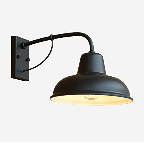 Américain Simple Extérieure Étanche Rétro Nostalgique Fer Lampe Mur Extérieur Extérieur Balcon Jardin Mur Lumière Lampe De Jardin (Conception : 2)