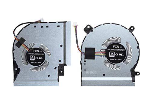 HuiHan Ersatz-CPU- und GPU-Lüfter für ASUS ROG Strix SCAR II GL504 GL504G GL504GM GL504GS Serie (CPU und GPU)