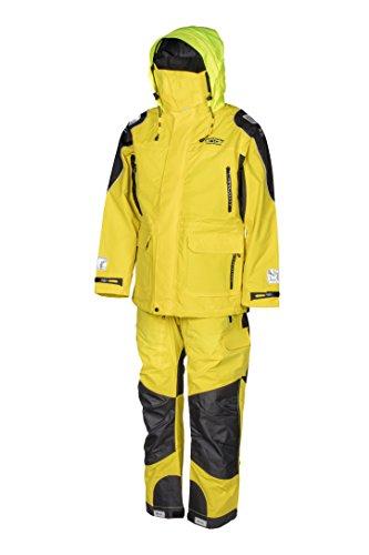 WESTCOAST Damen/Herren (Unisex) Ölzeug Offshore Segelbekleidung (Jacke + Hose), Rot/Gelb, XS bis XXL, Übergrößen 3XL bis 5XL - Gelb - M