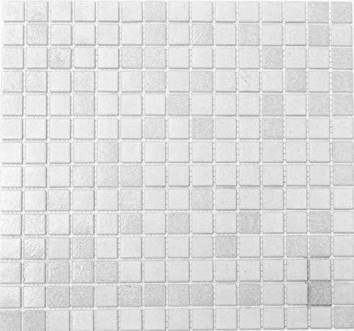 Mix tessere di mosaico bianco Vetro Mosaico