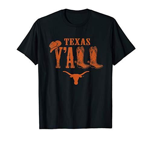 Texas Longhorns Y'all Boots - Apparel T-Shirt