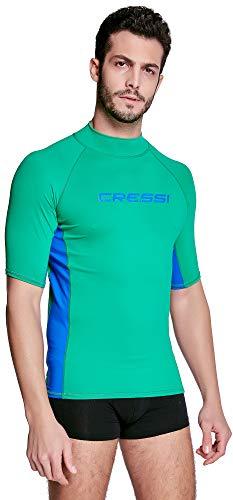 Cressi Rash Guard Man, Hombre, Verde Fluo/Azul, XL