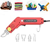 S SMAUTOP Cuchillo eléctrico caliente, 220V / 100W Kit de herramienta de corte de espuma de poliestireno profesional de espuma para cortar tela/caucho/cuerda/plástico/acrílico (4 en 1)