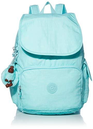 Kipling Women's City Pack Medium, Adjustable Backpack Straps, Zip Closure, Fresh Teal Tonal