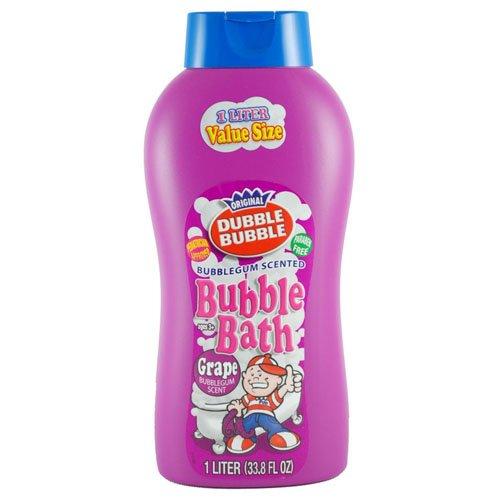 Original Dubble Bubble Grape Scented Bubble Bath Extra Large Liter Bottle 33.8 Oz by Dubble Bubble