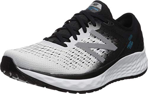 New Balance Mens Fresh Foam 1080v9 Running Shoes White WhiteBlackDeep Ozone Blue 10 UK Extra Wide 4E 445 EU