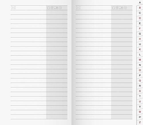 BRUNNEN 1070048 Adress-Registerheft (für Taschenkalender/Plankalender/Sichtkalender, 87 x 153 mm, Karton-Umschlag)
