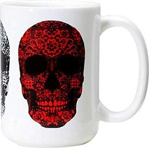 Gift DOD Floral Skulls Mug Coffee Capa 15 Ceramic Japan's Gorgeous largest assortment Ounces