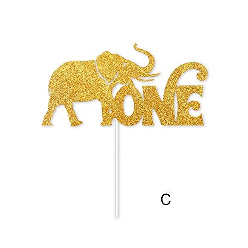 Daxerg jungle dieren onder het motto hoge stoel baner decor Crown Party Supplies voor baby 1e verjaardag