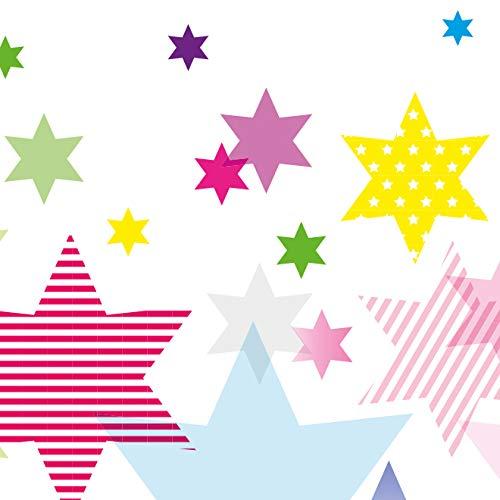 """Motif avec hibeaux /""""Owl Stars Boys/"""" Turquoise//Beige 450 x 11,5 cm Anna Wand Design Frise Murale Auto-adh/ésive pour Chambre d/'Enfants"""