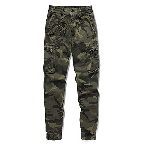 Pantalones Casuales para Hombre Primavera y Verano Tendencia de Personalidad Pantalones Cargo con Estampado de...