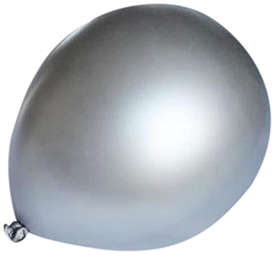 Homeford Premium Latex Balloons Plain Color, 12-Inch, Silver, 12-Pack