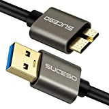 SUCESO Câble USB 3.0 Mâle A vers Micro B 3.0 [0.5M] Câble Disque Dur Cable et synchronisation Compatible avec Disque Dur Externe WD,Toshiba Canvio,Galaxy S5,My Passport Elements,Basics Seagate Maxtor