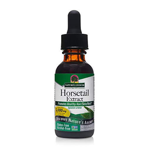 Nature's Answer Horsetail Herb | Promotes Healthy Hair, Skin & Nails | Made in the USA | Gluten-Free, Alcohol-Free, Kosher Certified & No Preservatives 1oz