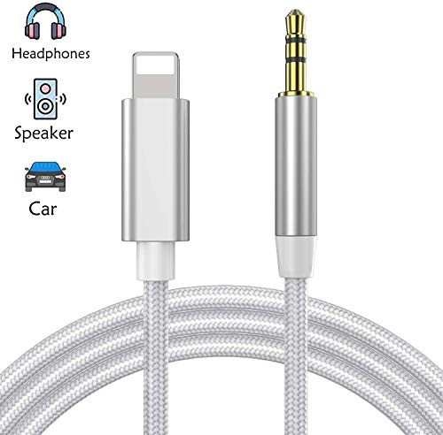 i Pod,Speakers,Headphones Coiled 6ft Max AUX Cord for i Phone 8 for Car for Phone XR,XS,XR,8,7,6,i Pad Black UNOOE i Phone AUX Cord for i Phone X i Phone XR AUX Cable Adapter