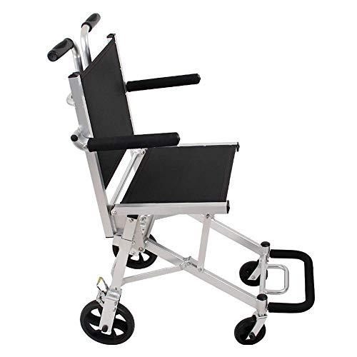 TWL LTD-Wheelchairs Rollstühle mit Eigenantrieb Old Man Trolley Faltbarer Rollstuhl für Den Haushalt Aluminium-Ausflug Geeignet für Personen mit Eingeschränkter Mobilität
