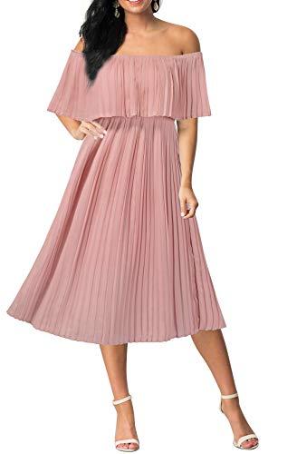 Moya Wedding Dress Pink Off the Shoulder Bousrier