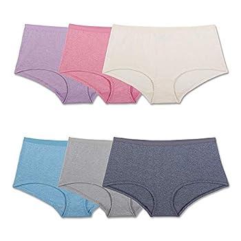 Fruit of the Loom Women s Beyondsoft Panties Boyshort-Cotton Blend-6 Pack 6