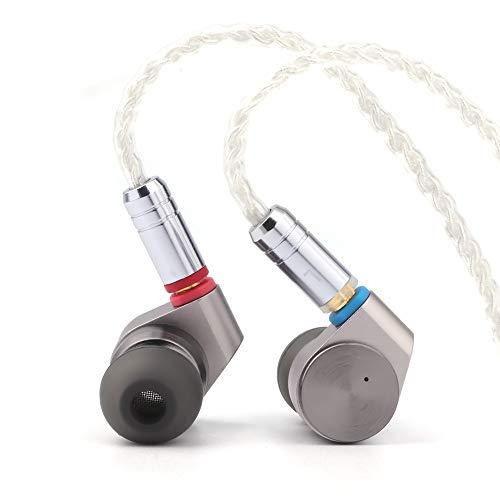 LINSOUL TIN Audio T2 HiFi 2DD Double Dynamic Drive in Ear Earphone Bass DJ Metal Headphones, 3.5 mm MMCX