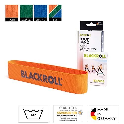 Blackroll Stoff-Widerstandsbänder – latexfreie Loop-Widerstandsbänder für Booty Workout Kniebeugen Hüfte Gesäßmuskulatur   hautfreundliche Mini-Widerstandsbänder Tuch, Hell-Orange