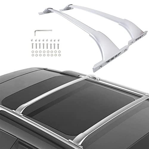 Partol Roof Rack Cross Bars Compatible for Nissan Rogue 2014-2020 with Side Rail, Aluminum Rooftop Cross Bars Cargo Bar Luggage Carrier for Canoe Kayak Bike Snowboard
