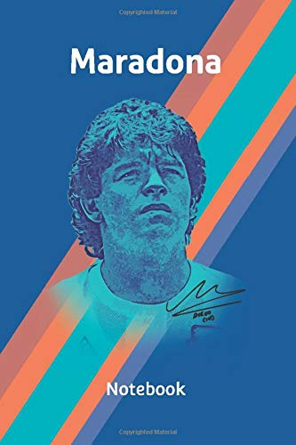 Diego Maradona Notebook Journal Composition Book for remembrance.: Diego Armando Maradona, el pibe de oro, hand of god